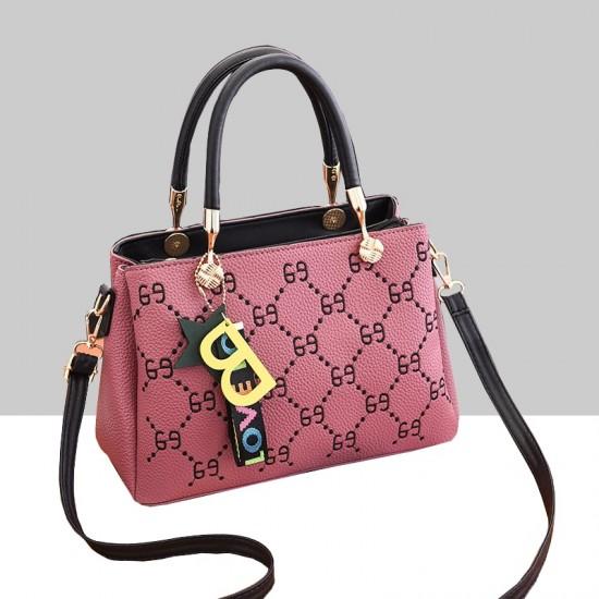 Designer Print European Style Pink Shoulder Handbag WB-55PK image