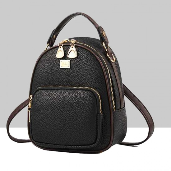 Mini Casual Backpack Nylon Shoulder Bags for Women WB-52BK image