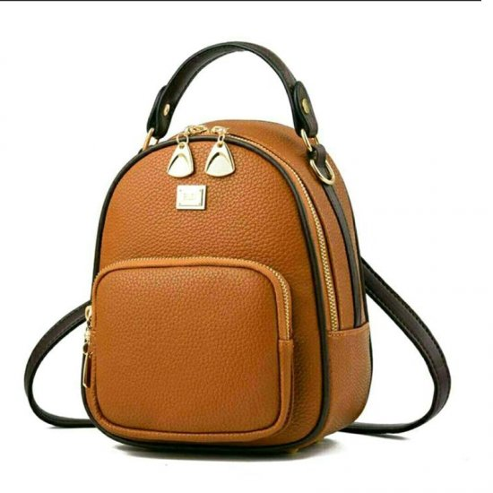 Mini Casual Backpack Nylon Shoulder Bags for Women WB-52BR image