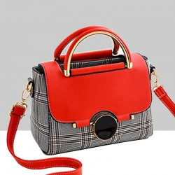 Designer Printed Shoulder Diagonal Red ContrastHandbag WB-51RD
