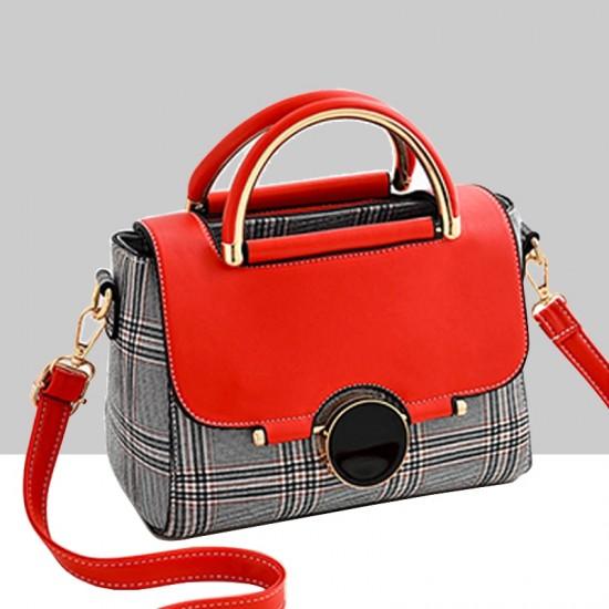 Designer Printed Shoulder Diagonal Red ContrastHandbag WB-51RD image