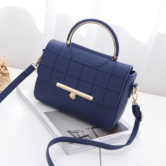 Square Textured Blue Flap Shoulder Mini bag WB-58BL image
