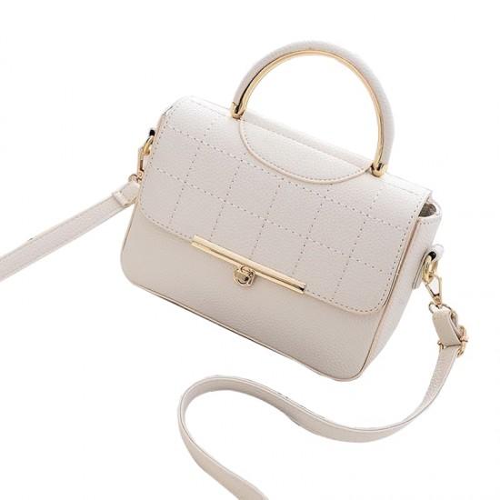 Square Textured Cream Flap Shoulder Mini bag WB-58CR image
