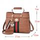 Designer Contrast Brown Shoulder Bucket Bag WB-59BR image