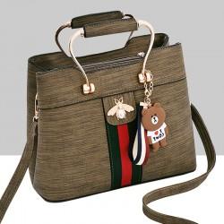 Designer Contrast Green Shoulder Bucket Bag WB-59GN