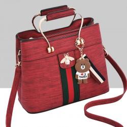 Designer Contrast Red Shoulder Bucket Bag WB-59RD