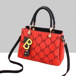 Designer Print European Style Red Shoulder Handbag WB-55RD