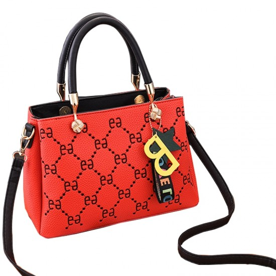 Designer Print European Style Red Shoulder Handbag WB-55RD image
