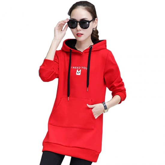 Women's Casual Style Winter Pullover Hoodie WH-30RD image