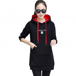 Women's Casual Style Winter Pullover Hoodie WH-30BK