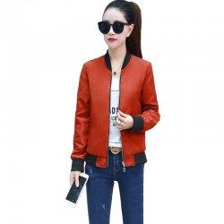 Women's Korean Fashion Orange Color Jacket WJ-36OR