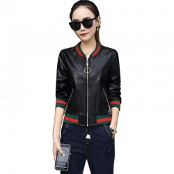2019 New Korean Version Women Pu Leather Jacket WJ-29BK