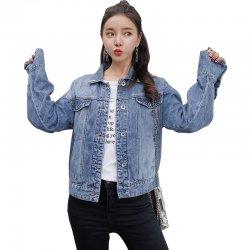 Denim Jacket Female Spring And Autumn 2018 WJ-34BL