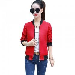 Women's Korean Fashion Red Color Jacket WJ-36RD