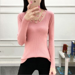 Women's Long-sleeved V-neck Sexy Slim Sweater WH-23PK