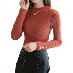 Women's Head Long-Sleeved Tight-fitting Slim Sweater WH-28MR