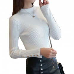 Women's Head Long-Sleeved Tight-fitting Slim Sweater WH-28WT