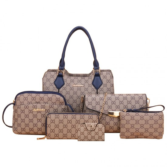 Designer Pattern Six-Pieces Set of Shoulder Handbags WB-74BL |image