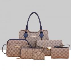 Designer Pattern Six-Pieces Set of Shoulder Handbags WB-74BL