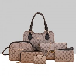 Designer Pattern Six-Pieces Set of Shoulder Handbags WB-74BK