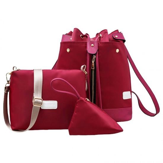 Trending Front Zip Red Backpack & Handbag Set WB-72RD |image