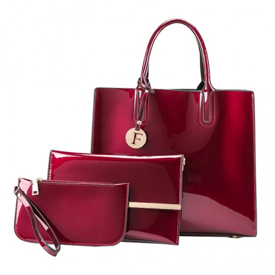 Elegant Luxury Plus Size Three Piece Red Bags Set WB-69RD |image