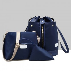 Trending Front Zip Blue Backpack & Handbag Set WB-72BL