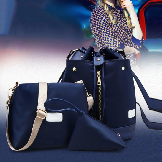 Trending Front Zip Blue Backpack & Handbag Set WB-72BL |image