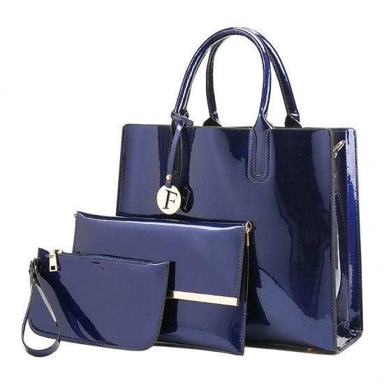 Elegant Luxury Plus Size Three Piece Blue Bags Set WB-69BL |image