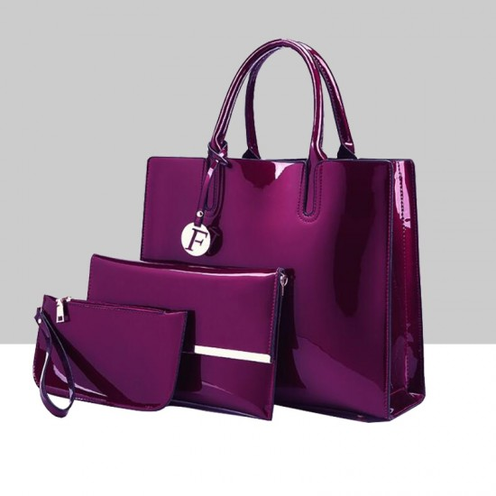 Elegant Luxury Plus Size Three Piece Purple Bags Set WB-69PR |image