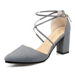 High Heeled American Pointed Suede Women Shoes S-130GR