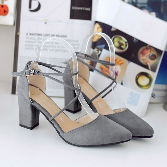High Heeled American Pointed Suede Women Shoes S-130GR image