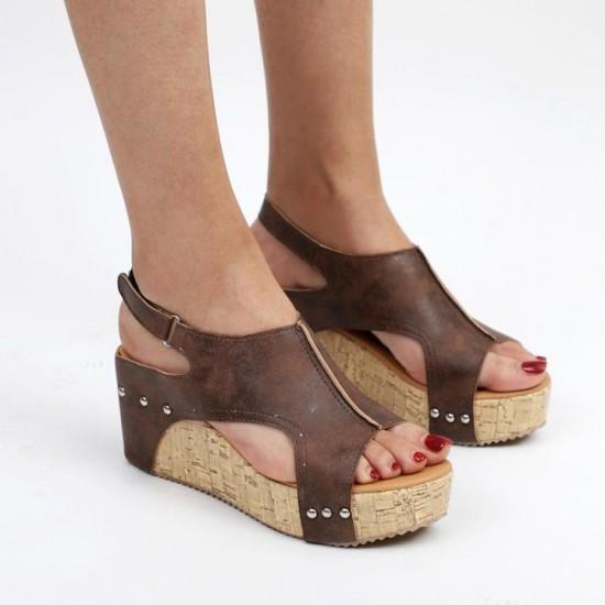 New Thick-bottomed Vintage Vintage Sandals S-131BR image