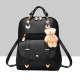 Teddy Bear Hanging Black Double Strap Backpack WB-85BK |image
