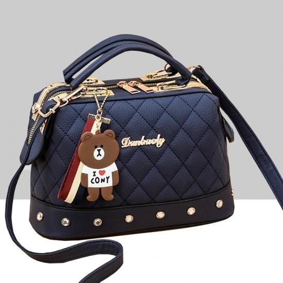 Quilted Premium Blue Shoulder Handbag WB-84BL |image