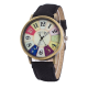 Women's Graffiti Pattern Analog Wrist Watch W-26BK