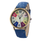 Women's Graffiti Pattern Analog Wrist Watch W-26BL