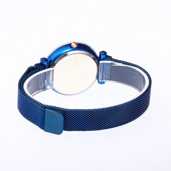Blue Magnetic Strap Sky Diamond Dial Bracelet Watch W-33BL |image