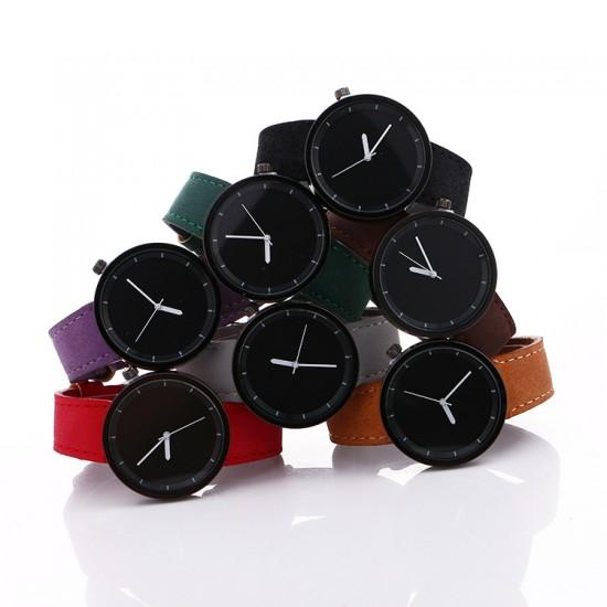 White Leather Strap Unisex Quartz Wrist Watch W-34W |image