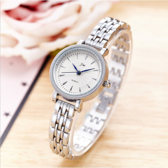 White Dial Silver Stainless Belt Ladies Wrist Watch W-39S |image