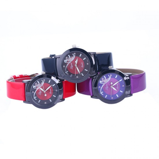 Black Leather Strap with Butterfly Designed Dial Wrist Watch W-40BK |image