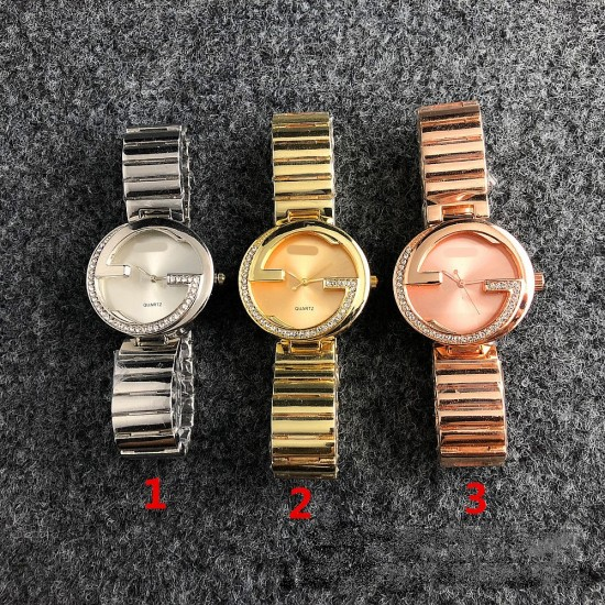 Gucci Style Rose Color Analogue Wrist Watches W-42RG |image