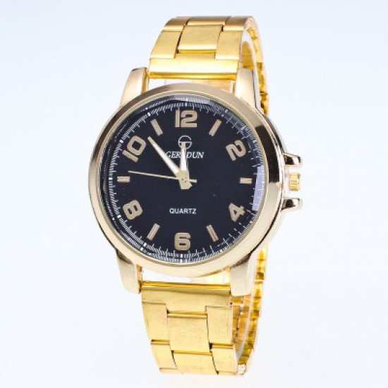 Gold Top Brand Luxury Fashion Bracelet Watch W-46BK |image