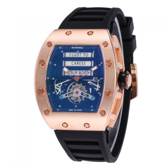 Rose Gold Hollow Multi functional Designer Style Watch W-51RG |image