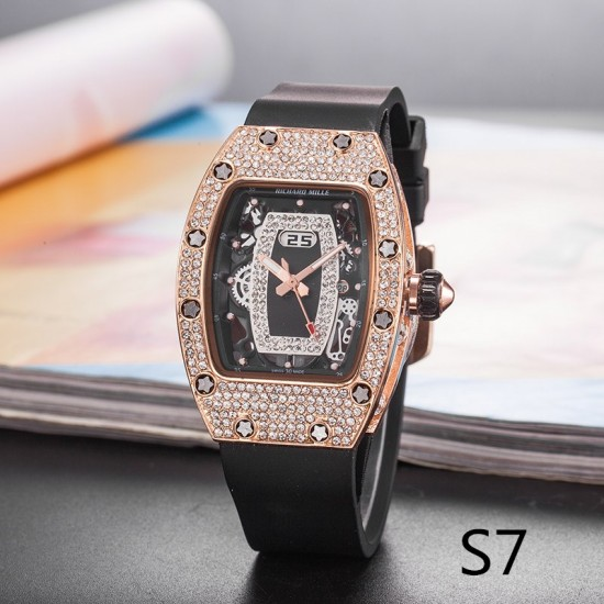Designer Diamond Decorated Women's Watch W-52BK |image