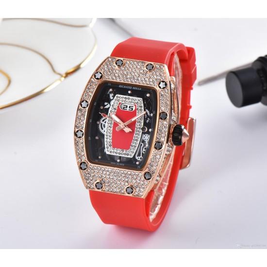 Designer Diamond Decorated Women's Watch W-52RD |image
