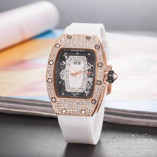 Designer Diamond Decorated Women's Watch W-52WT |image