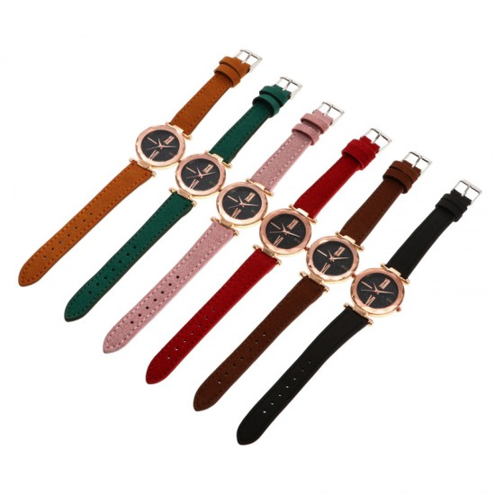 Golden Dial Leather Strapped Analogue Wrist Watch W-56GR image