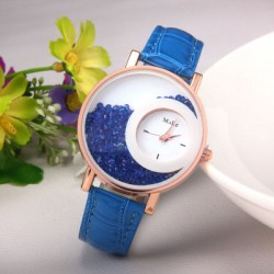 Blue Color Double Dial Analogue Watch W-60BL