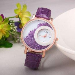 Purple Color Double Dial Analogue Watch W-60PR